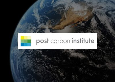 Post Carbon Institute – transitioning to a more equitable and sustainable world